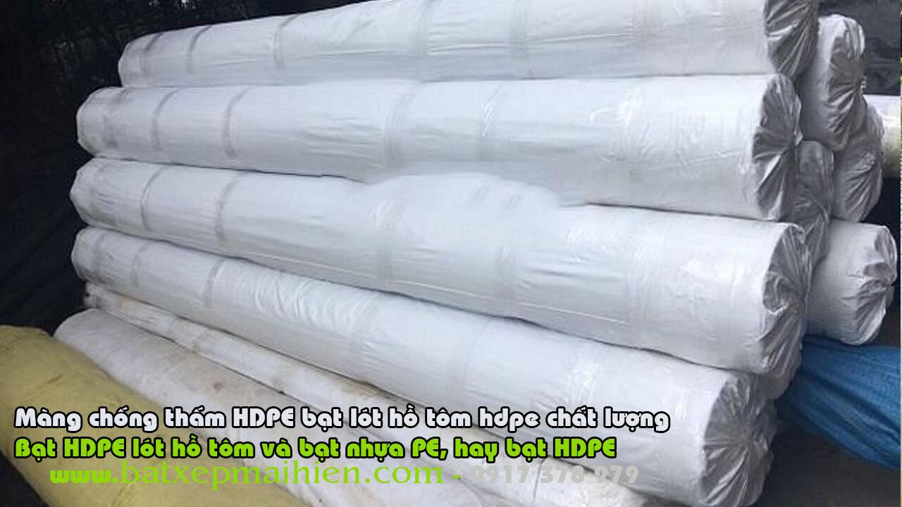 Thi công trọn gói lót bạt nhựa HDPE chống thấm cho ao hồ nuôi tôm cá