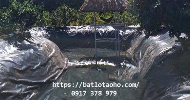 Bạt Lót Ao Hồ Nuôi Tôm Giá Rẻ, Bạt Nhựa HDPE Chống Thấm Lót Hồ Nuôi Cá