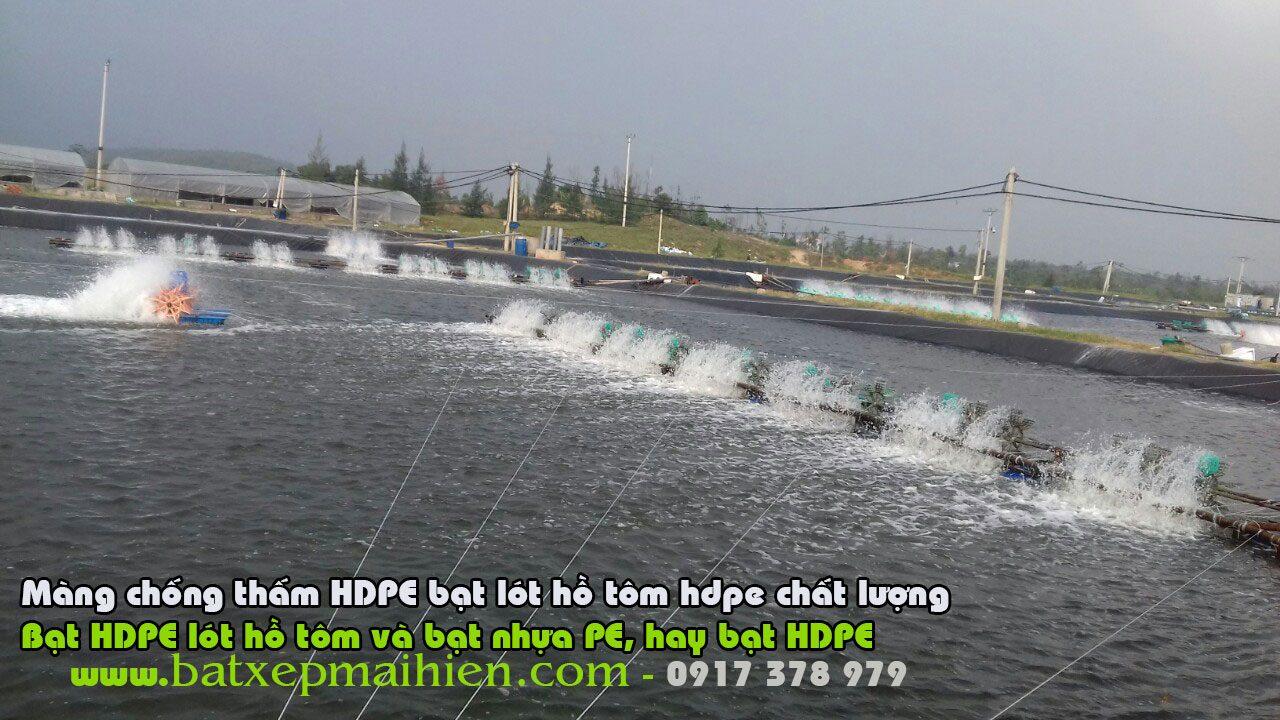 Bán Bạt HDPE Lót Ao Hồ Giá Rẻ, Bạt PE Nuôi Tôm Lót Ao Hồ 0917 378 979