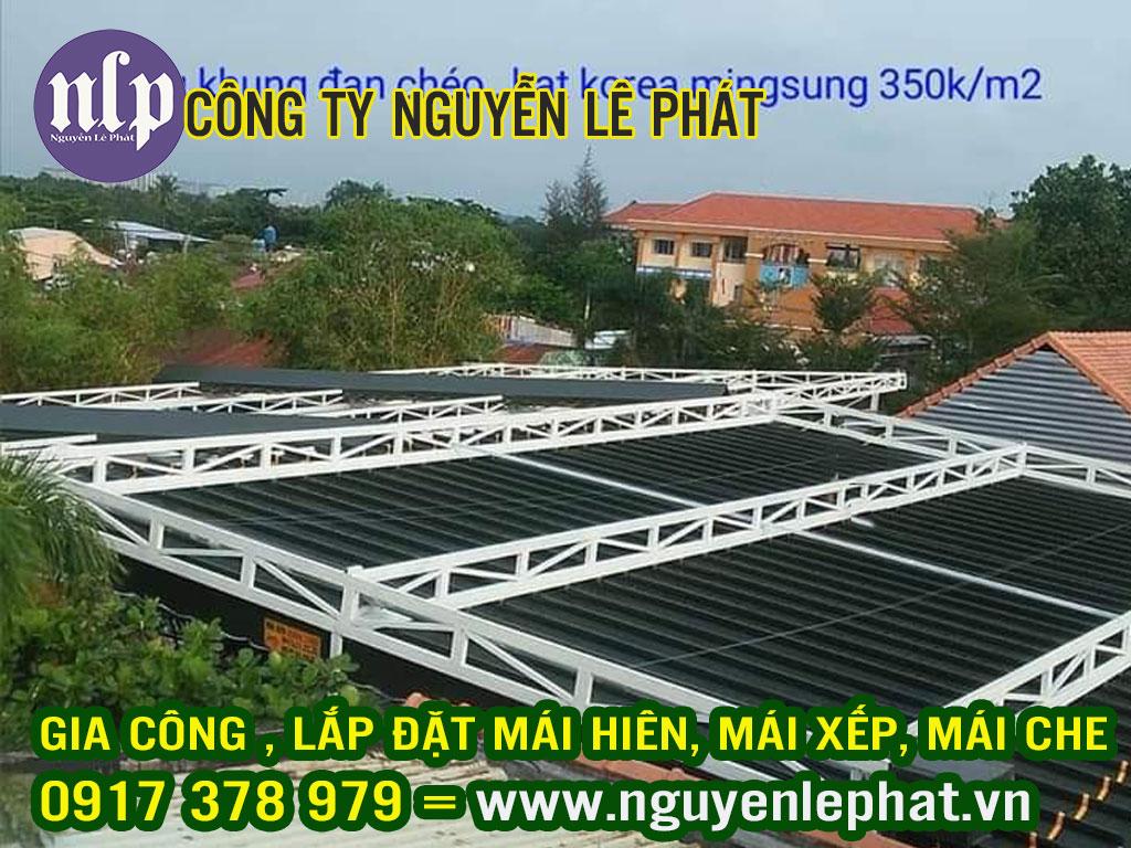 Đơn vị thi công lắp đặt mái hiên, mái xếp lượn sóng giá rẻ tại Bình Phước Đồng Xoài